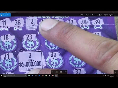What does a $5,000,000 winning scratchoff ticket look like? Look carefully!