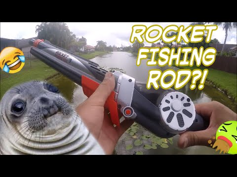 Toy Fishing Rod Catches Fish?! (Rocket Fishing Rod)