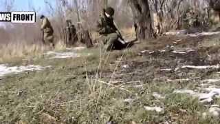 ополчение днр против окруженных укропов Реальный бой +18!!! 13 02 2015