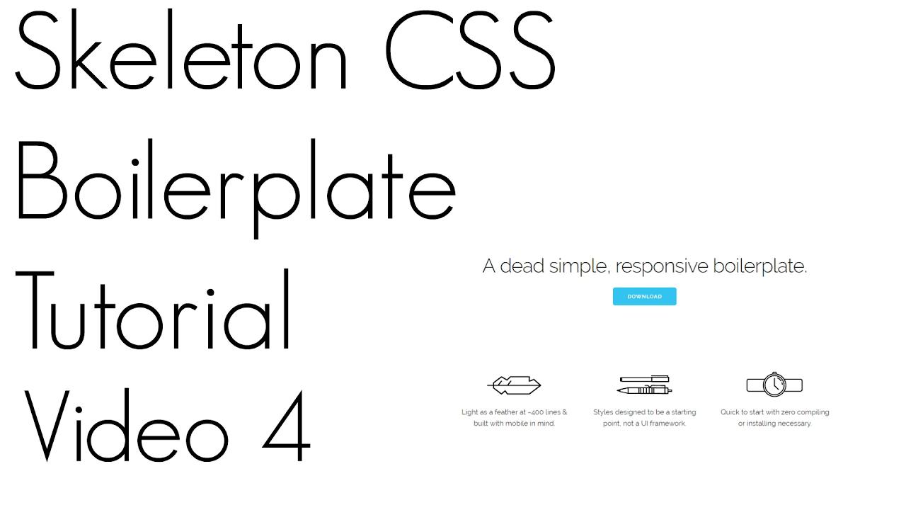 Skeleton CSS Tutorial ~ Video 4 - YouTube