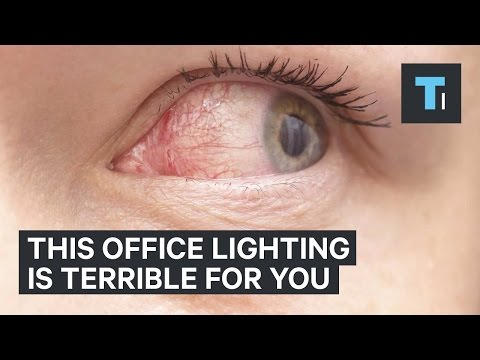 This office lighting is terrible for you