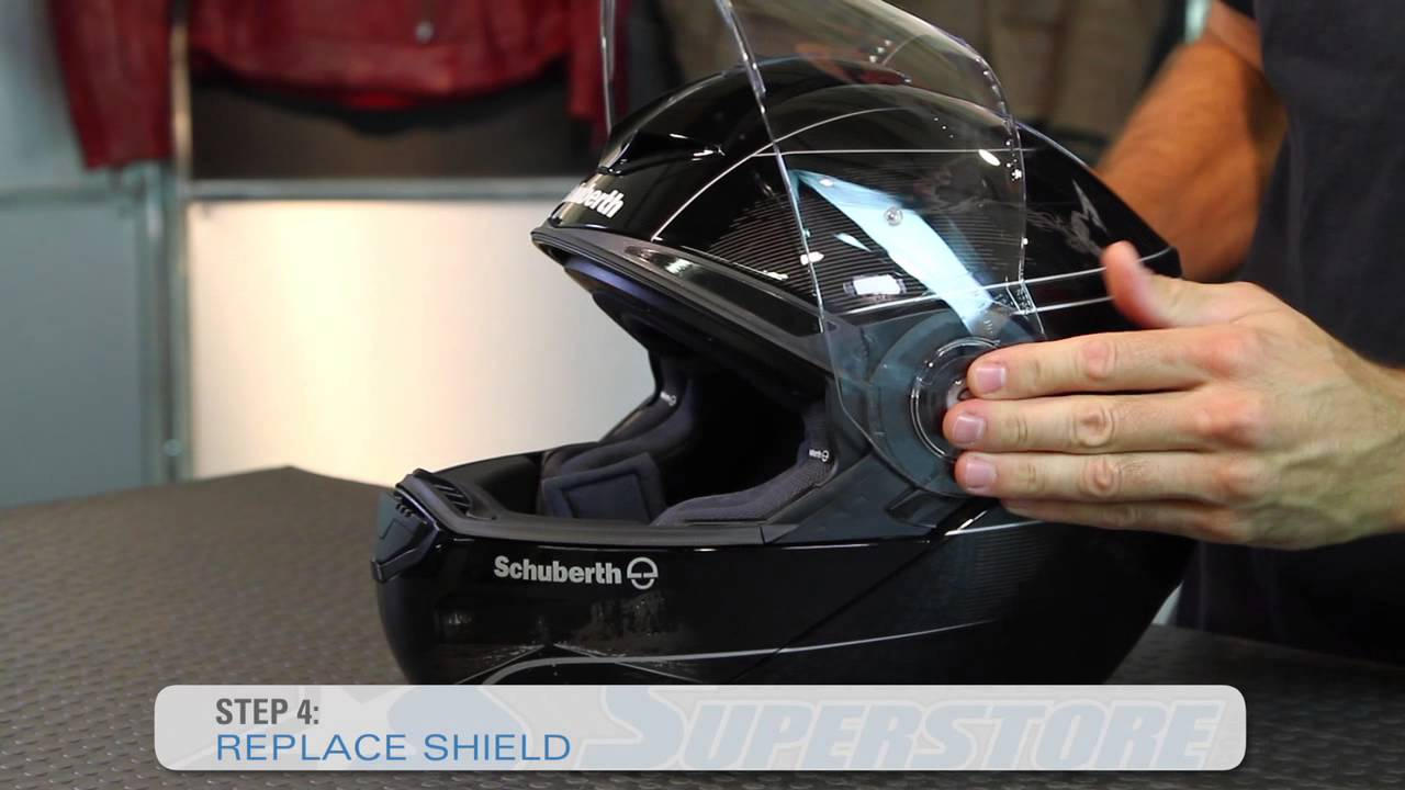 how to change the schuberth c3 c3 pro helmet shield. Black Bedroom Furniture Sets. Home Design Ideas