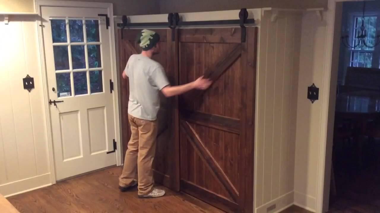 Single Track Bypass Barn Door System