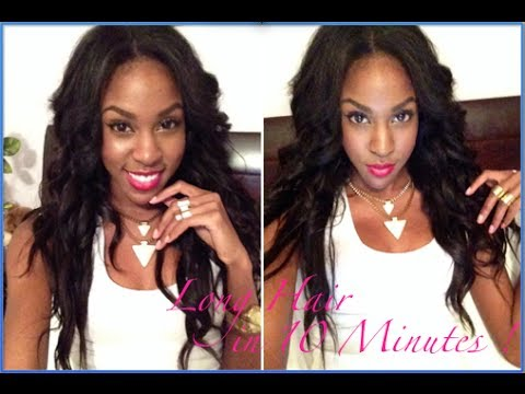 HAIR  Hollywood Ten Minute Sew-in Review !