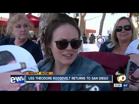USS Theodore Roosevelt returns to San DIego