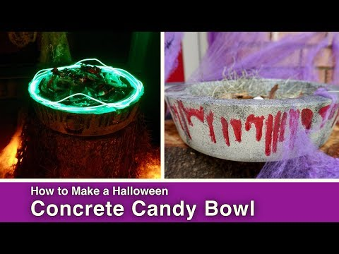 DIY Halloween Concrete Candy Bowl