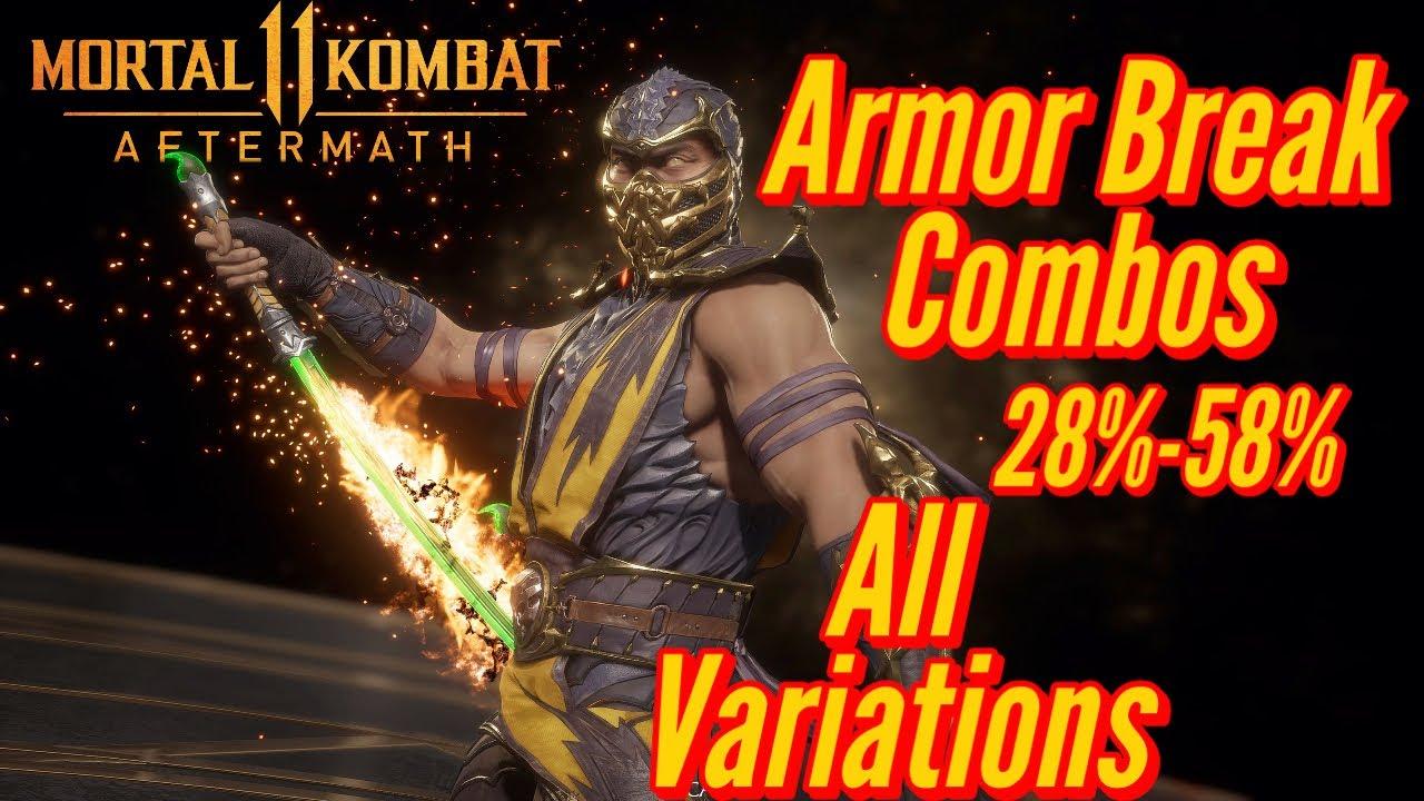 MK11 Aftermath Scorpion armor break combos
