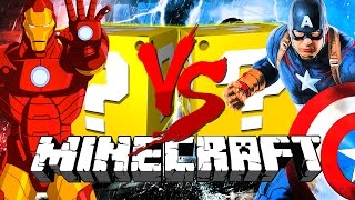 Minecraft | CIVIL WAR LUCKY BLOCK CHALLENGE | Captain America VS Iron Man
