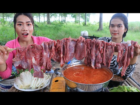 Cooking beef soup with chili and vegetable recipe - Cooking skill