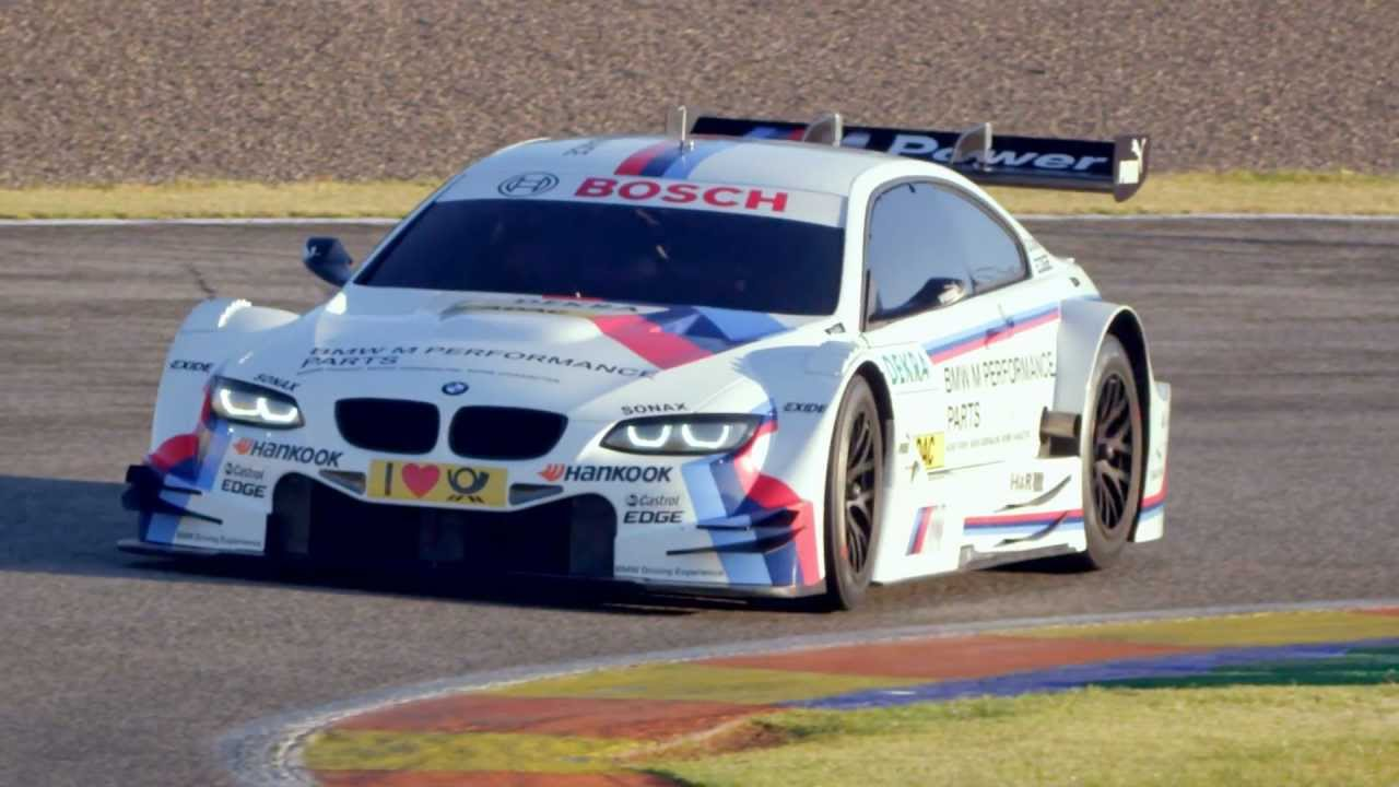 Footage of the 2012 BMW M3 DTM race car on the track - YouTube