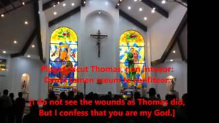 Adoro Te Devote with Lyrics (Latin & English) and slide show of OMPH Altar_CLIPCHAMP_720p.flv