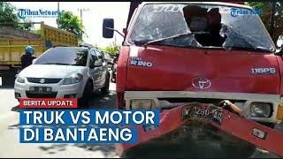 Mobil Truk VS Motor Dua Orang Dibawa ke RSUD Bantaeng