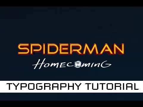 SPIDERMAN Far from Home font making in PHOTOSHOP tutorial  peter parker tony