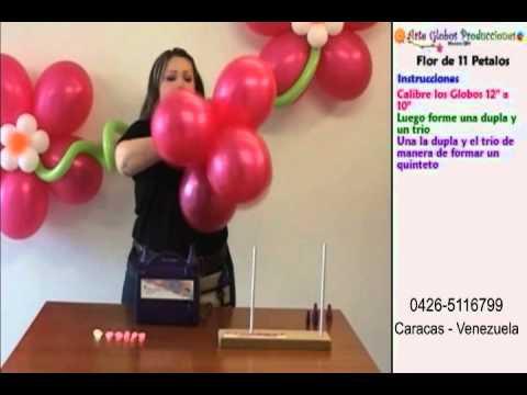 Curso de globos flor fantasia youtube - Curso decoracion con globos ...