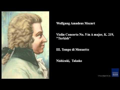 Wolfgang Amadeus Mozart, Violin Concerto No. 5 in A major, K. 219,