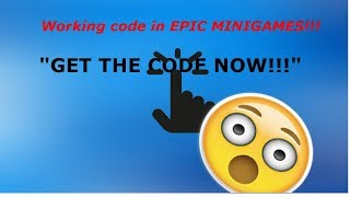 *WORKING* Code in EPIC MINIGAMES ROBLOX!!!