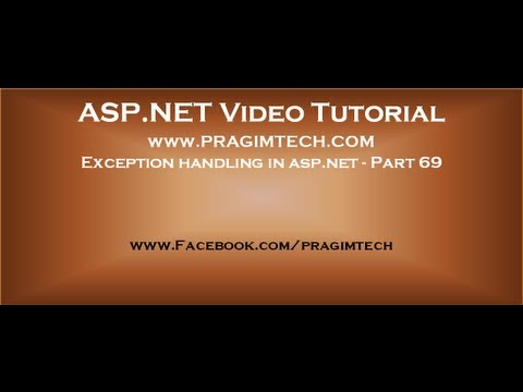 Exception handling in asp.net   Part 69