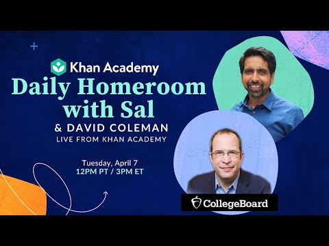 Daily Homeroom With Sal: Tuesday, April 7