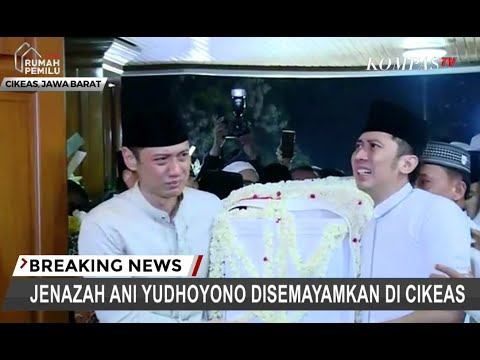 Tangis AHY dan Ibas Pecah Saat Angkat Peti Jenazah Ani Yudhoyono