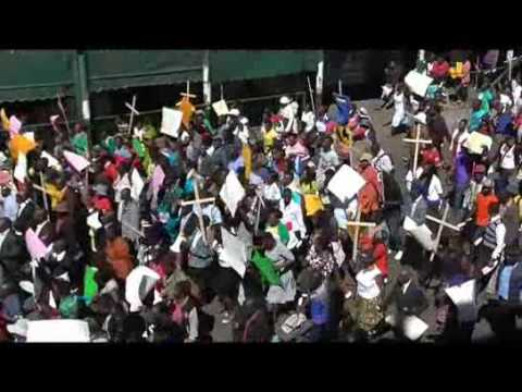 Demonstration againast Dokora in Harare