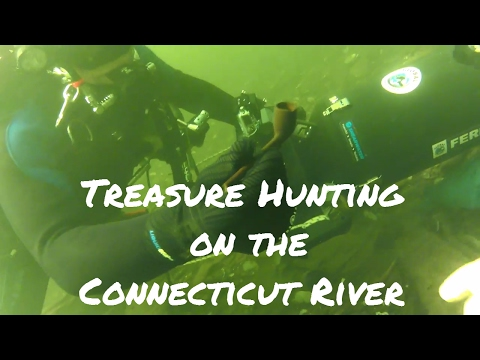 Scuba Diving for treasure on the Connecticut River. Treasure Hunting.