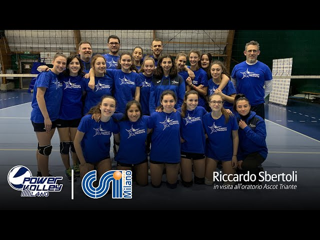 Powervolley e CSI, Sbertoli in visita all'oratorio Ascot Triante
