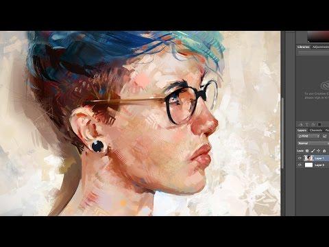 Blue Hair - Painting a Digital Portrait in...