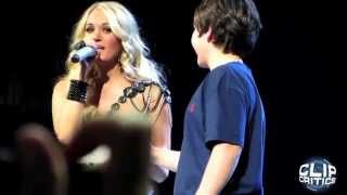 Carrie Underwood Kisses 12 Year Old Boy