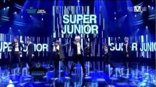 110929 Super Junior - A-CHA ComeBack Stage