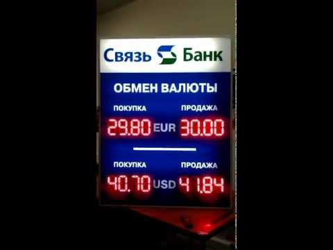 Табло курсов валют для банка - PLtablo.ru