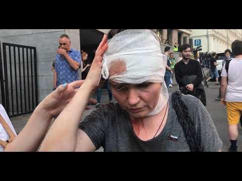 Интервью депутата Александры Парушиной на митинге 27.07.2019г. до и после избиения
