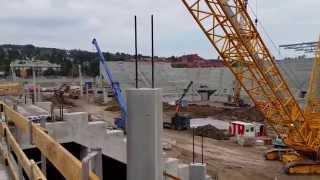 Allianz Stadion: Blick auf die Baustelle I (19.08.2015)