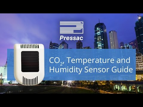 Pressac CO2, Temperature and Humidity Sensor Guide