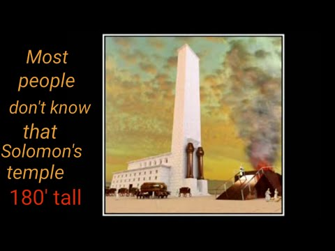 Solomon temple was 180 feet tall? new building project