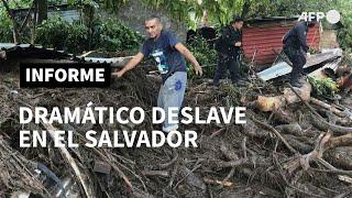 Muertos y desaparecidos por deslave en El Salvador | AFP