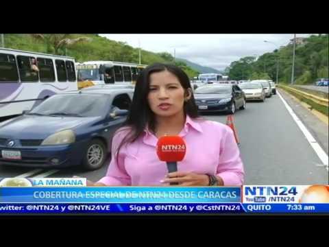 Venezolanos continúan llegando a Caracas para participar en la 'Toma de Caracas'