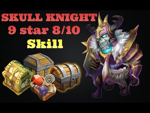Castle Clash Skull Knight 9 Star 8/10 Skill! Crazy!