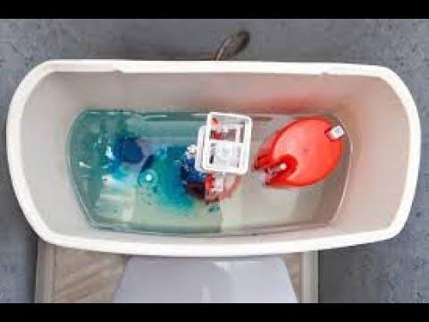 Замена клапана подачи воды в сливной бачок с нижней подводкой.