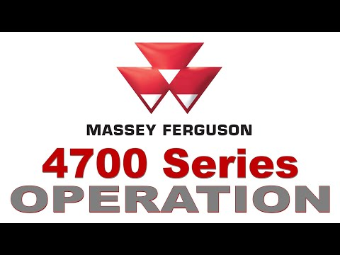 Massey Ferguson 4700 Global Series Utility Tractor: Operating the Deluxe Transmission