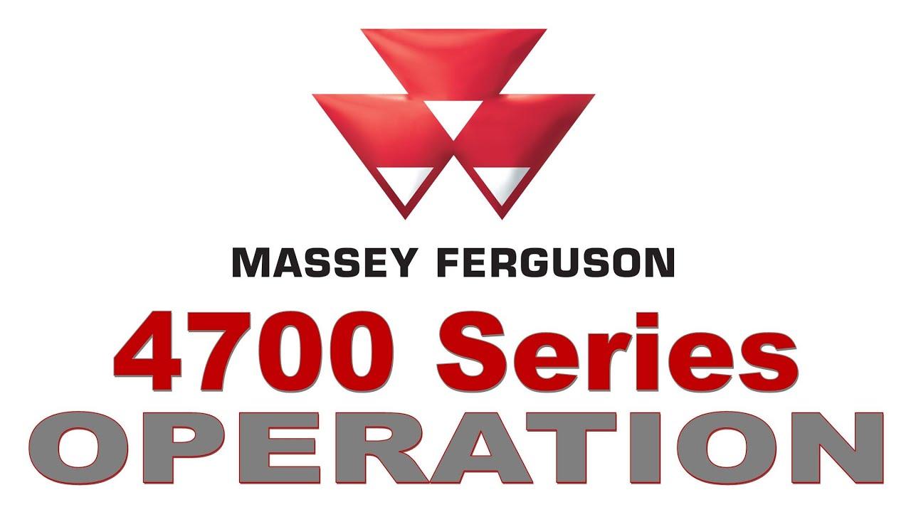 Massey Ferguson 4700 Global Series: Operating the Deluxe 12x12 Power  Shuttle Transmission
