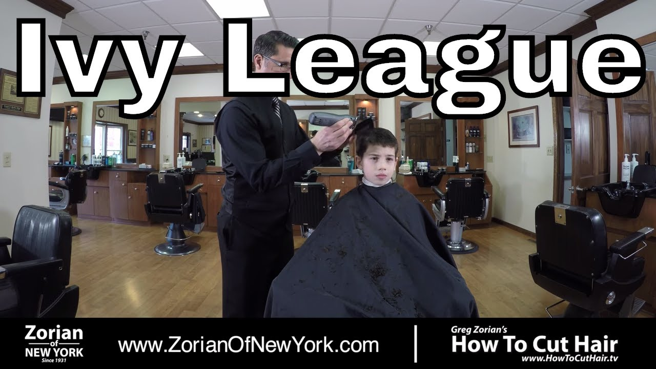 How To Cut And Style Ivy League Hairstyle Greg Zorian Haircut