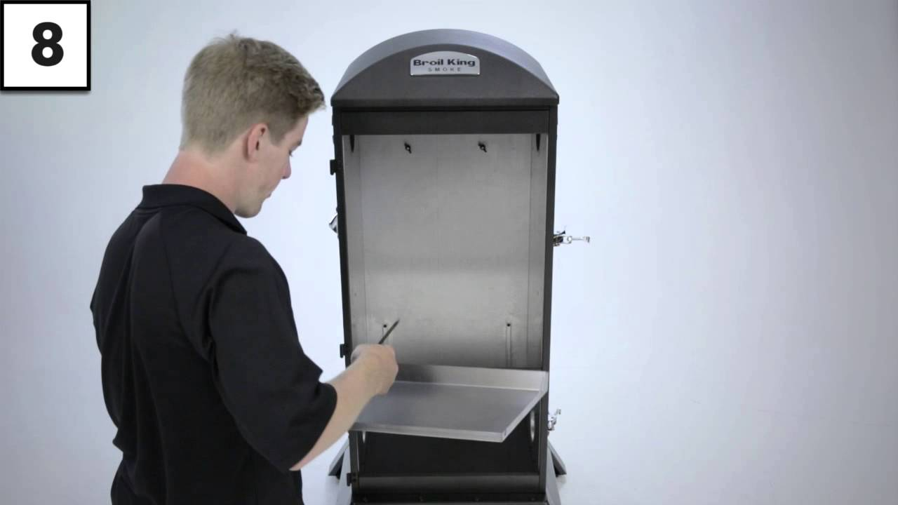 923610 Vertical Charcoal Smoker Assembly - YouTube