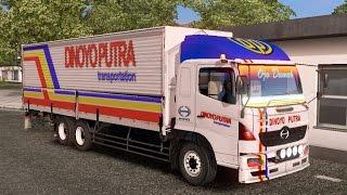ETS 2   Hino 500 HT Tandem 6 x 2 Dinoyo Putra Wingbox Logistik Probolinggo - Lamongan