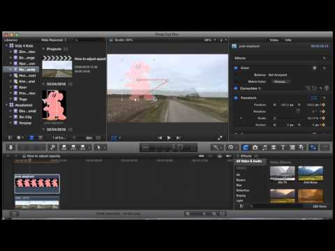 How To Make Images Move Around On The Screen In Final Cut Pro X