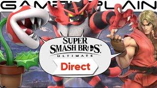 Incineroar, Piranha Plant, Ken, World of Light, & More! Smash Ultimate Direct DISCUSSION!