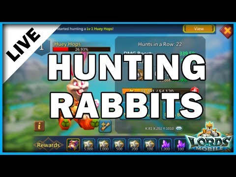 LORDS MOBILE - RABBIT HUNTING - HUEY HOPS  - MISTER BP GAMING
