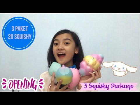 KEBANJIRAN PULUHAN SQUISHY LICENSED ?!?! Opening 3 Squishy Package | Friendship DIY