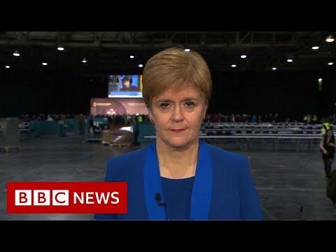 Election results 2019: Scottish First Minister Nicola Sturgeon on SNP performance - BBC News