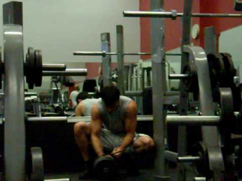 120 lb one arm side laterals towards end of shoulder workout for 4 reps at 19(bdw 170) CHEATED!!!
