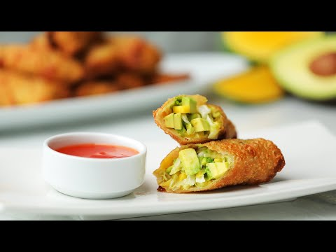 Avocado Egg Rolls // Presented by Avocados from Chile